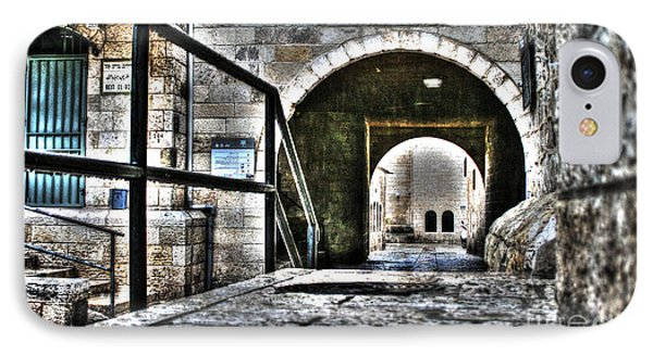 IPhone Case featuring the photograph Pathway Through Old Jerusalem by Doc Braham