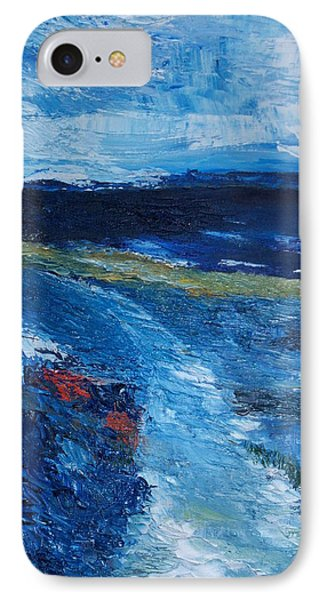 IPhone Case featuring the painting Pathway  To Oysterhaven Kinsale by Conor Murphy