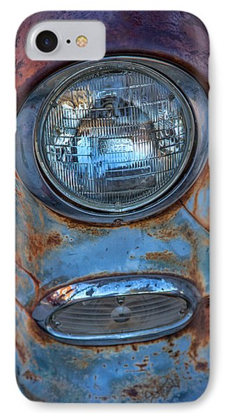 Patinaed Headlight IPhone Case by Peter Tellone