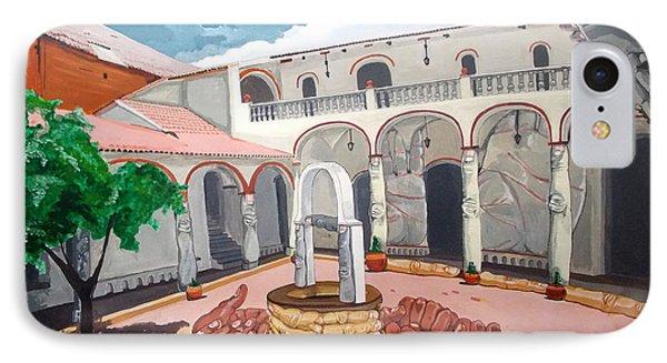 Patio Colonial Phone Case by Lazaro Hurtado