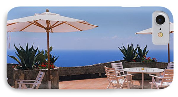 Patio Umbrellas In A Cafe, Positano IPhone Case by Panoramic Images