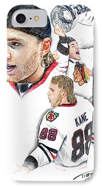 Patrick Kane - The Moment Phone Case by Jerry Tibstra