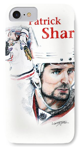 Patrick Sharp - The Cup Run Phone Case by Jerry Tibstra