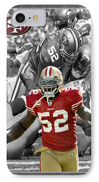 Patrick Willis 49ers Phone Case by Joe Hamilton