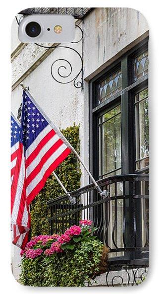 Patriotic Balcony Savannah Georgia IPhone Case