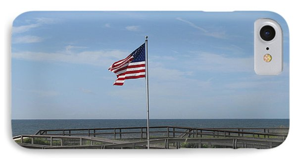 Patriotic Beach View IPhone Case