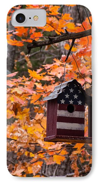 IPhone Case featuring the photograph Patriotic Birdhouse - 02 by Wayne Meyer