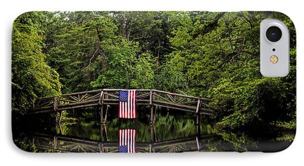 Patriotic Bridge IPhone Case