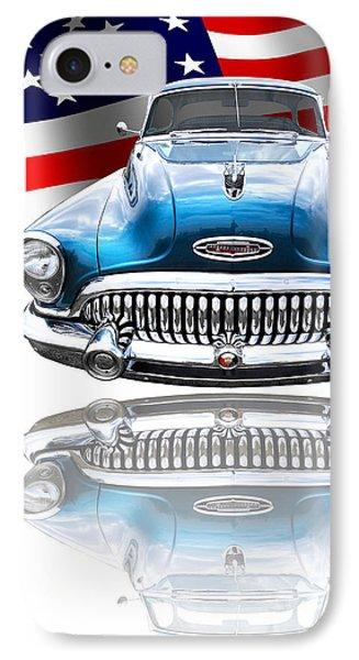 Patriotic Buick Riviera 1953 IPhone Case by Gill Billington