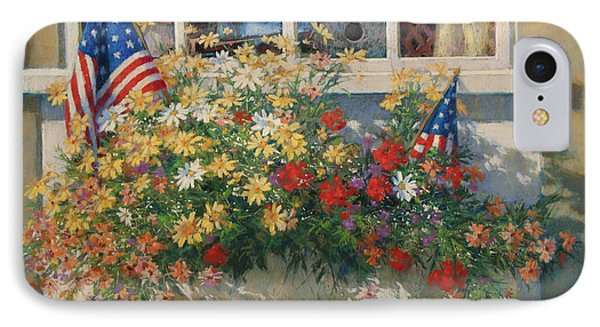 Patriotic Flower Box Phone Case by Sharon Will