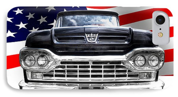Patriotic Ford F100 1960 IPhone Case by Gill Billington