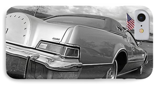 Patriotic Lincoln Continental 1976 IPhone Case by Gill Billington