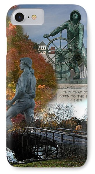Patriotic Massachusetts IPhone Case by Jeff Folger