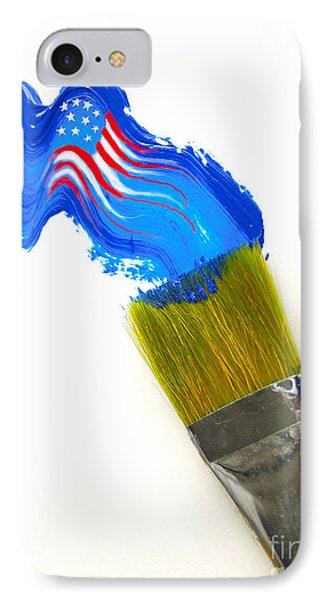 Patriotic Paint Phone Case by Diane Diederich