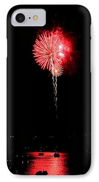 IPhone Case featuring the photograph Patriotic Red Reflections by Gene Walls