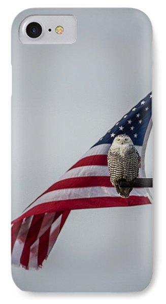 Patriotic Snow Owl IPhone Case