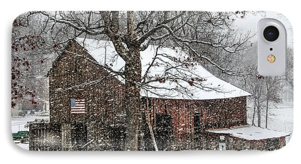 Patriotic Tobacco Barn Phone Case by Debbie Green