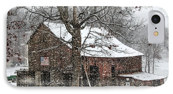 Patriotic Tobacco Barn IPhone Case by Debbie Green