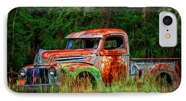 IPhone Case featuring the photograph Patriotic Truck by Priscilla Burgers