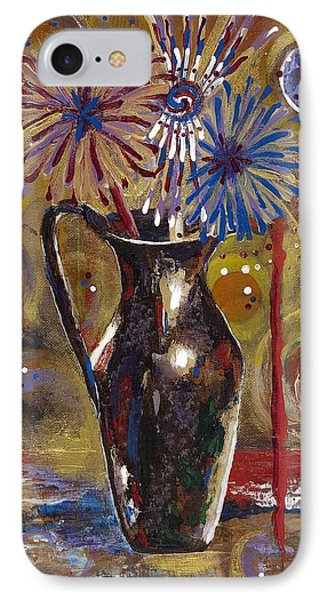 IPhone Case featuring the painting Patriotism Blooms by Margaret Bobb