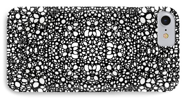 Pattern 42 - Intricate Exquisite Pattern Art Prints Phone Case by Sharon Cummings