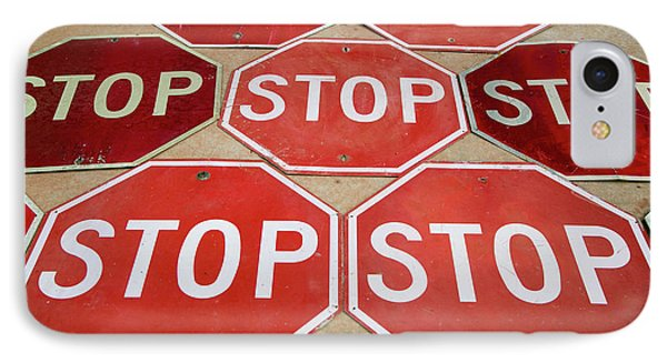 Pattern Of Stop Signs, Tucumcari, New IPhone Case