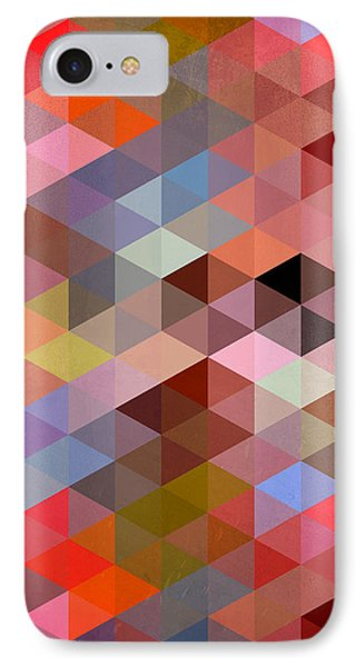 Pattern Of Triangle IPhone Case by Mark Ashkenazi