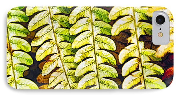 Patterns In Cinnamon Fern IPhone Case
