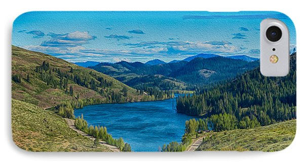 Patterson Lake In The Summer Phone Case by Omaste Witkowski