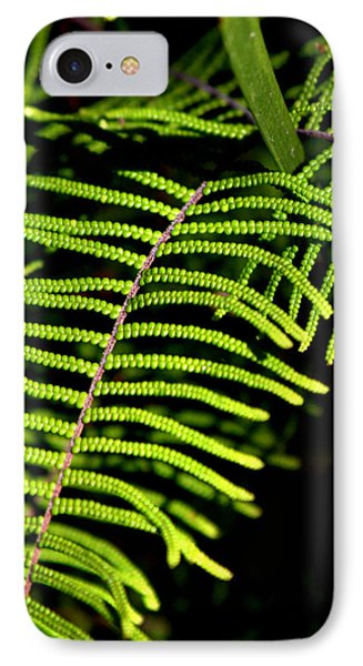 IPhone 7 Case featuring the photograph Pauched Coral Fern by Miroslava Jurcik