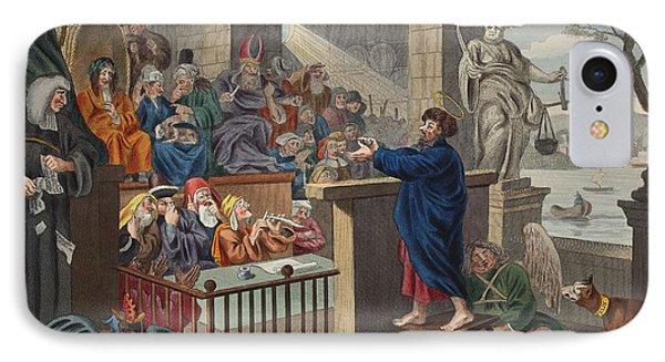 Paul Before Felix, Illustration IPhone Case by William Hogarth