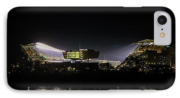 Paul Brown Stadium IPhone Case by Cathy Donohoue