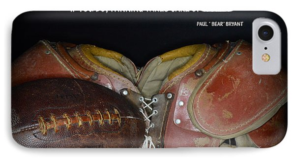 Paul Bryant On Football IPhone Case by Paul Ward