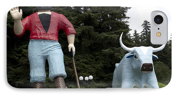Paul Bunyan And His Blue Ox In Klamath IPhone Case