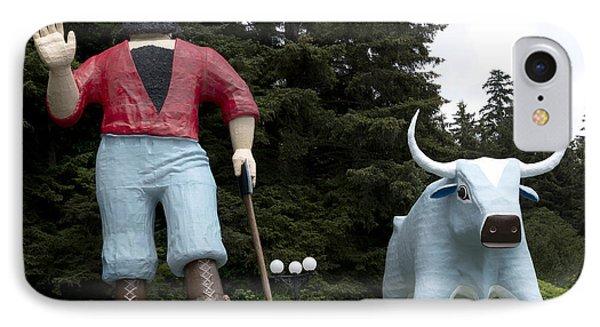 Paul Bunyan And His Blue Ox In Klamath IPhone Case by Carol M Highsmith