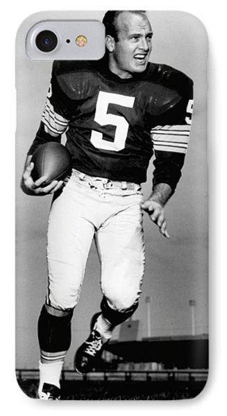 Paul Hornung Poster IPhone Case by Gianfranco Weiss