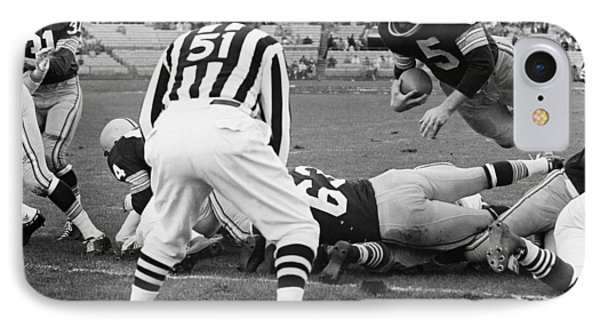 Paul Hornung Touchdown IPhone Case by Gianfranco Weiss
