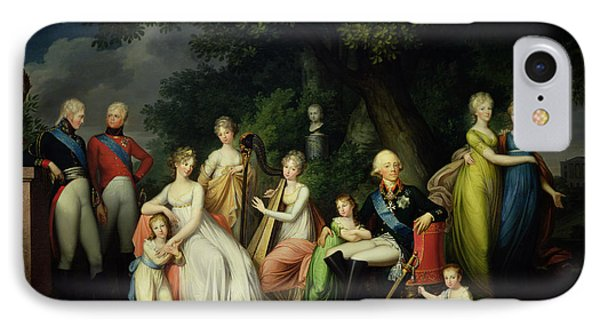Paul I 1754-1801, Maria Feodorovna 1759-1828 And Their Children, C.1800 Oil On Canvas IPhone Case