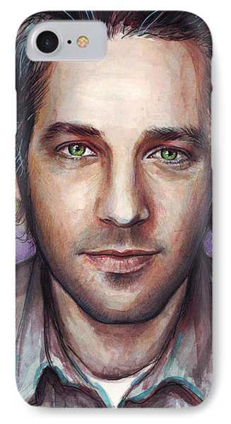 Paul Rudd Portrait IPhone 7 Case by Olga Shvartsur