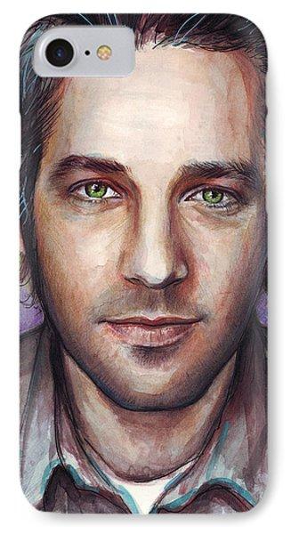 Paul Rudd Portrait IPhone 7 Case by Olga Shvartsur