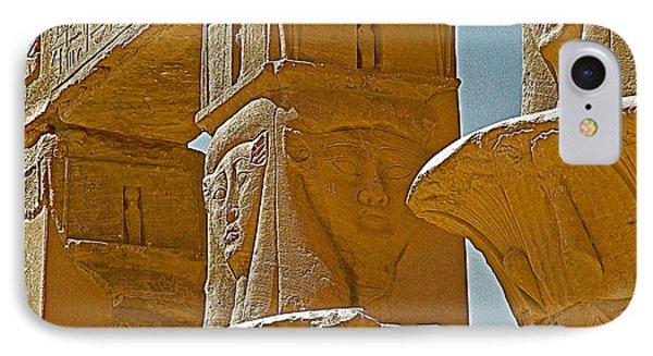 Pavilion Of Nectanebo I Dedicated To Hathor On Philae Island Near Aswan-egypt  IPhone Case by Ruth Hager