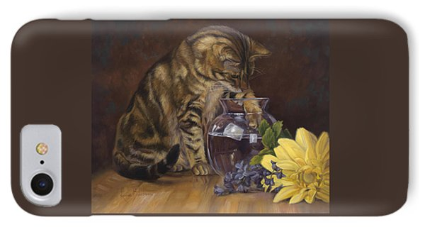 Daisy iPhone 7 Case - Paw In The Vase by Lucie Bilodeau