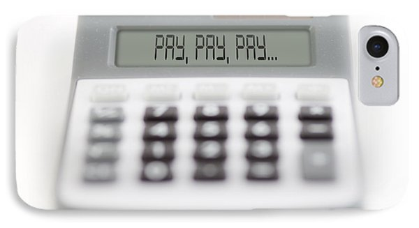 Pay Pay Pay Phone Case by Michal Boubin