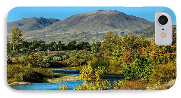 Payette River And Squaw Butte IPhone Case by Robert Bales