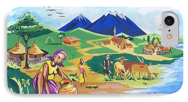 Paysage Du Nord Du Rwanda IPhone Case by Emmanuel Baliyanga