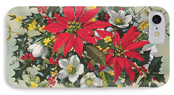 Christmas Flowers IPhone Case by Albert Williams
