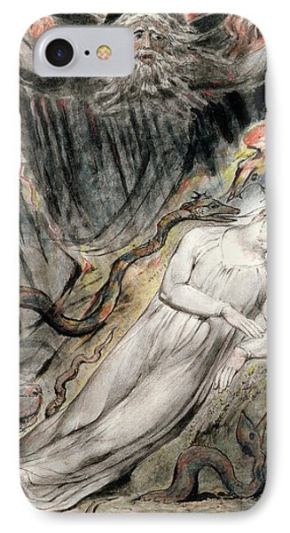 Pd.20-1950 Christs Troubled Sleep IPhone Case by William Blake