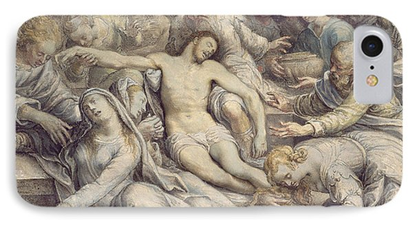 The Lamentation Over The Dead IPhone Case by Isaac Oliver