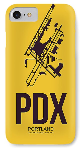 Pdx Portland Airport Poster 3 IPhone Case