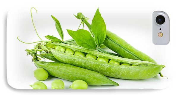 Pea Pods And Green Peas Phone Case by Elena Elisseeva
